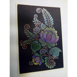 CREATIVE EXPRESSIONS und COUTURE CREATIONS Selo transparente, silhueta de flor