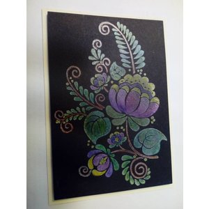 CREATIVE EXPRESSIONS und COUTURE CREATIONS Gennemsigtig stempel, blomster silhuet