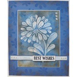 CREATIVE EXPRESSIONS und COUTURE CREATIONS Timbro trasparente, silhouette di fiori