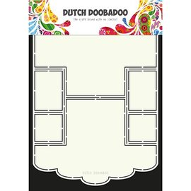 Dutch DooBaDoo A4 Plastic Sjabloon: Card Art Scallop Edge