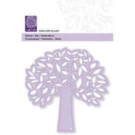 CREATIVE EXPRESSIONS und COUTURE CREATIONS Plantilla de ponche: árbol con hojas
