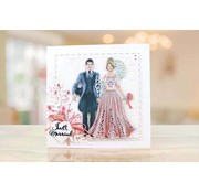 Tattered Lace NEW! cutting die: Bride & Groom