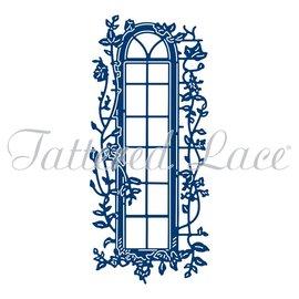 Tattered Lace NEU! Stanzschablone: Fenster mit Efeu