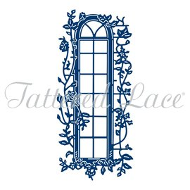 Tattered Lace NYHED! Stansemal: vindue med vedbend