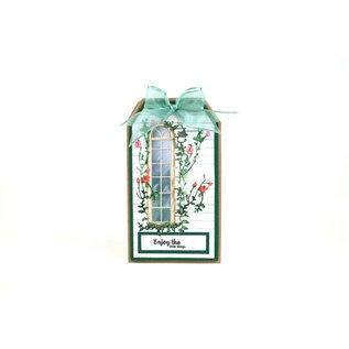 Tattered Lace NUEVO! Plantilla de perforación: ventana con hiedra