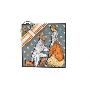 Tattered Lace NIEUW! Snij en embossmal / Sjabloon: Lord & Lady