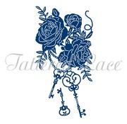 Tattered Lace NIEUW! Snij en embossmal / Sjabloon: The Keys To Your Heart