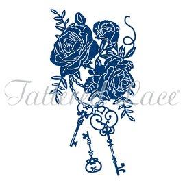 Tattered Lace NYHED! Die Skæring Skabelon: Tasterne til dit hjerte