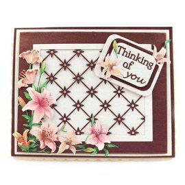 Tattered Lace NY! Punch Template: Trellis Background