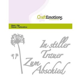 Tattered Lace Stanzschablone: Tekst - In stiller Trauer (DE)