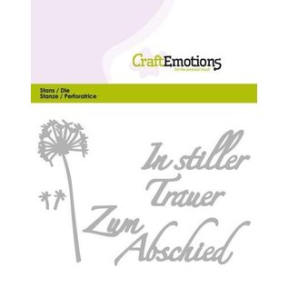 Tattered Lace Stanzschablone: Tekst - em luto silencioso (DE)