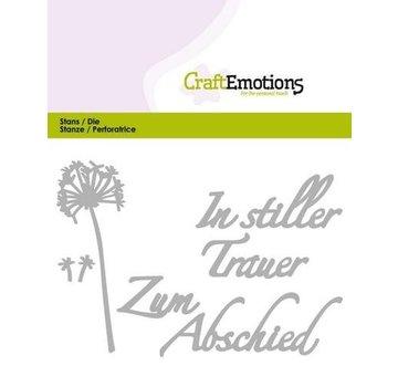 Tattered Lace Stanzschablone: Tekst - In stiller Trauer (DE)