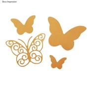 Spellbinders und Rayher cutting and emboss die: Butterflies