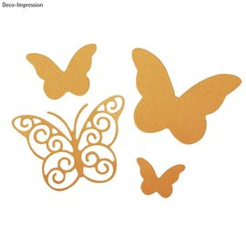 Spellbinders und Rayher cutting and emboss die: Butterflies