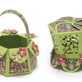 Spellbinders und Rayher Plantillas, caja hexagonal para pétalos (S6-147)