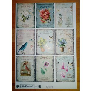 LaBlanche Bilderbogen mit 9 Garten Motiven