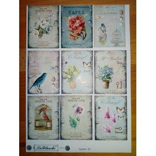 LaBlanche Picture sheet with 9 garden motifs