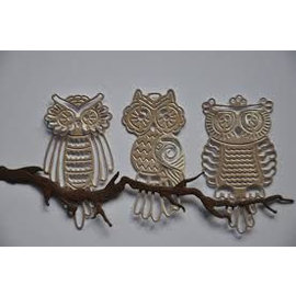 Tattered Lace Bigz Die, 3 filigräne cute baby owls