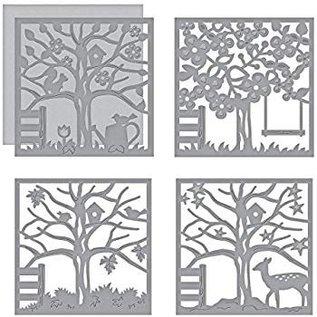 Spellbinders und Rayher Snij en emboss Sjablonen / Mallen, Four Seasons Silhouettes (S5-337)
