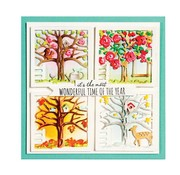 Spellbinders und Rayher cutting and embossing Dies, Four Seasons Silhouettes (S5-337)