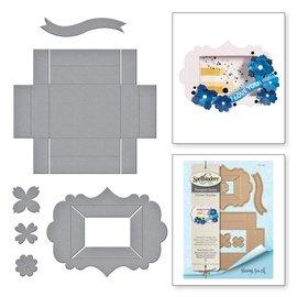 Spellbinders und Rayher molde do corte e do relevo / moldes: Schadowbox, S5-339