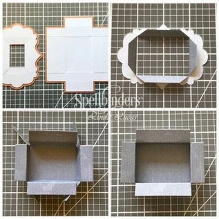 Spellbinders und Rayher modello di taglio e rilievo / stampi: Schadowbox, S5-339