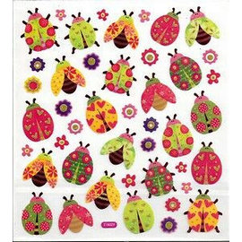 STICKER / AUTOCOLLANT Fancy Glitzer Sticker, Blatt 15 x 16,5 cm