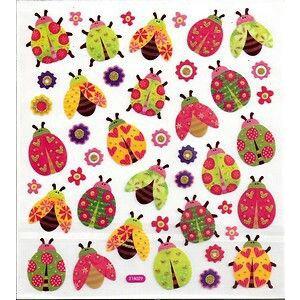 Sticker Mooie glittersticker, vel 15 x 16,5 cm