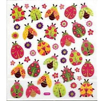 Sticker Fancy glitter klistermærke, ark 15 x 16,5 cm