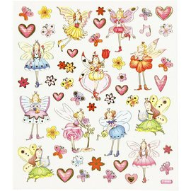 Sticker Sticker paillettes fantaisie, feuille 15 x 16,5 cm
