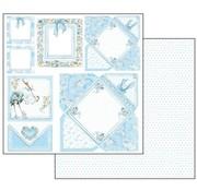 Stamperia Baby Boy Cards, sheet 30.5 x 30.5 cm