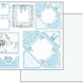 Stamperia Baby Boy Cards, foglio 30,5 x 30,5 cm