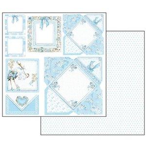 Stamperia Baby Boy-kaarten, vel 30,5 x 30,5 cm
