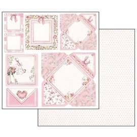 Stamperia Baby girl cards, hoja 30.5 x 30.5 cm