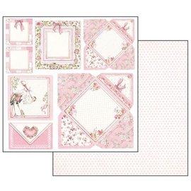Stamperia und Florella Baby girl cards, hoja 30.5 x 30.5 cm