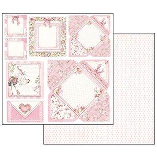 Stamperia Cartões de bebé, folha 30,5 x 30,5 cm