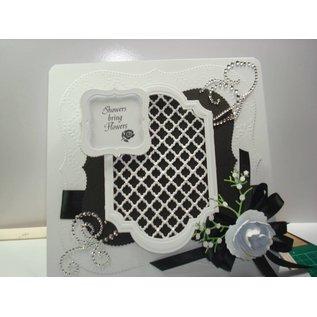 Crealies und CraftEmotions Modello di punzonatura, griglia di circa 10,5x14,8 cm