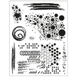 Stempel / Stamp: Transparent Motif de timbre 14 x 18 cm, fond grunge