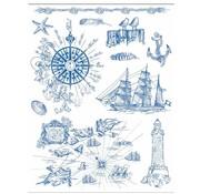 Stempel / Stamp: Transparent Stempelmotiv 14 x 18 cm , am Meer Seefahrt