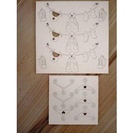 Embellishments / Verzierungen chipboards, dekorativ Baby