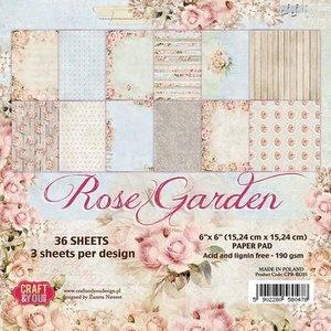 Karten und Scrapbooking Papier, Papier blöcke Papierblock, Rose Garden, 15,24 x 15,24 cm