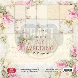 Karten und Scrapbooking Papier, Papier blöcke Papierblock,  my Wedding, 15,24 x 15,24 cm