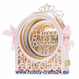 Spellbinders und Rayher Die Cut Template SET, Grand Dome 3D Card Etched Dies (S6-136)