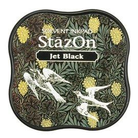 FARBE / STEMPELKISSEN Carimbo: StaZon Midi, Preto