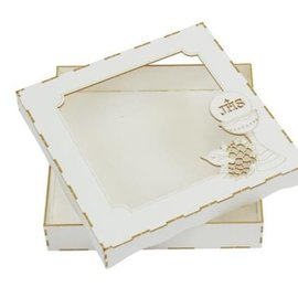 BASTELSETS / CRAFT KITS Chipboard Card Box, Communion