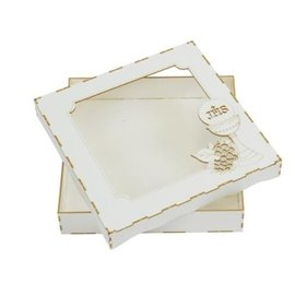BASTELSETS / CRAFT KITS Chipboard Card Box, Communion