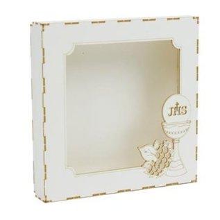BASTELSETS / CRAFT KITS Spaanplaat Card Box, communie