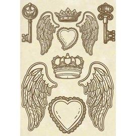 Stamperia Stamperia-houtvormen, vleugels