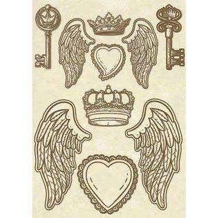 Stamperia und Florella Stamperia-houtvormen, vleugels