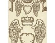 Metal and wood embellishments / embellishments, charms